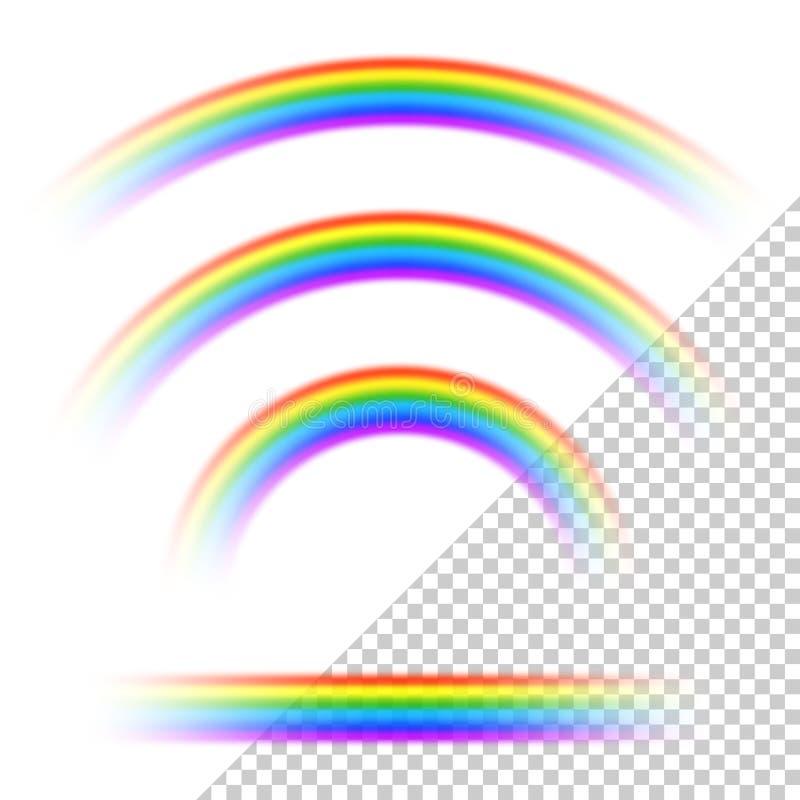 Transparente Regenbogensammlung vektor abbildung