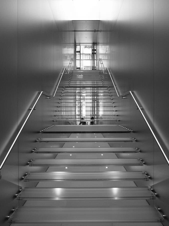 Transparente Treppe stockbilder