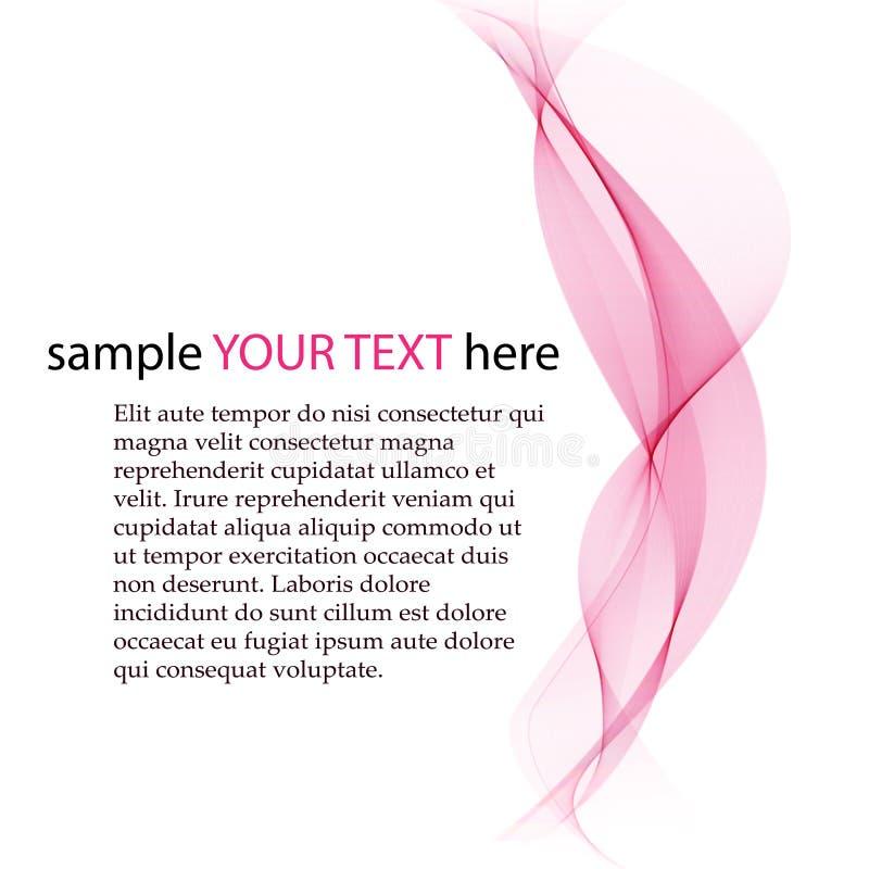 Transparente weiche Linien auf weißem Hintergrund Magentarote Farbe Glattes Rosa des Vektors vektor abbildung