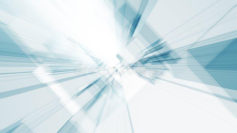 Transparenter abstrakter Glashintergrund blaue des Gl?hens wei?e Farb vektor abbildung