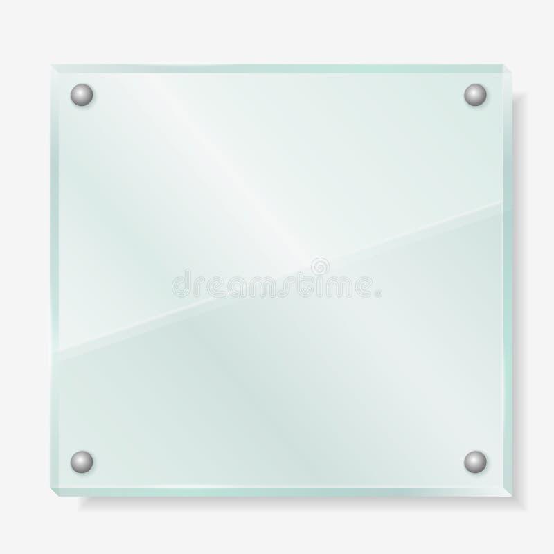 Transparenter Glasvorstand stock abbildung