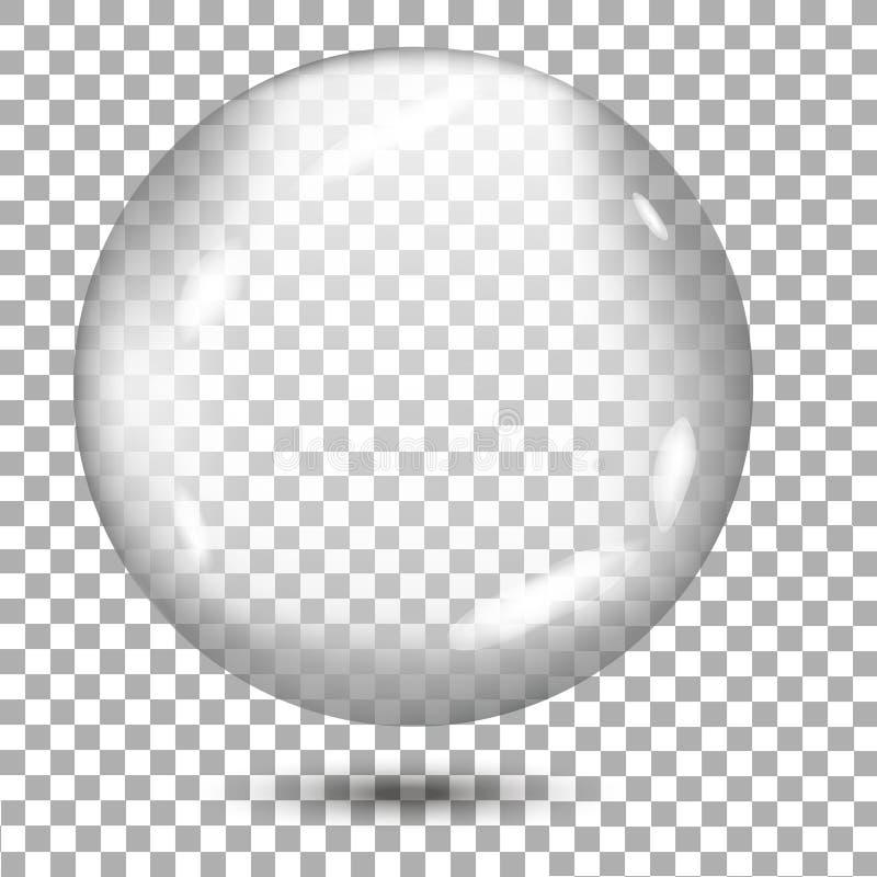 Transparenter grauer Bereich mit Schatten auf transparentem Hintergrund Vektor lizenzfreie abbildung