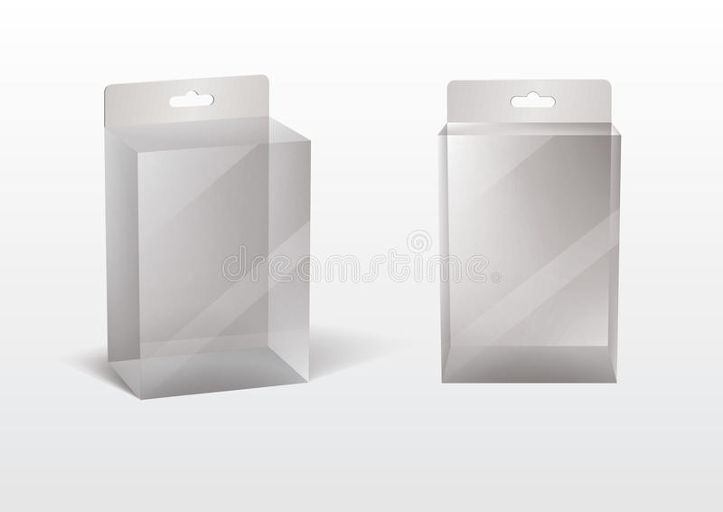 Transparenter Kasten lizenzfreie abbildung