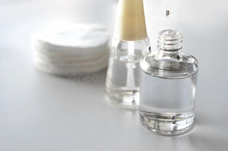 Transparenter Nagellack stockbild