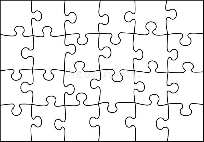 Transparenter Puzzlespielvektor vektor abbildung