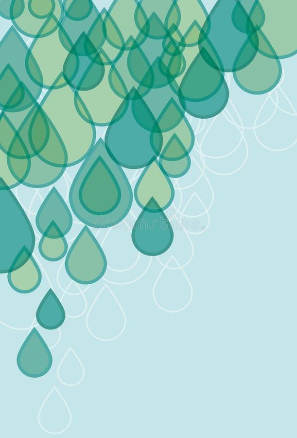 Transparenter Regentropfenhintergrund stock abbildung