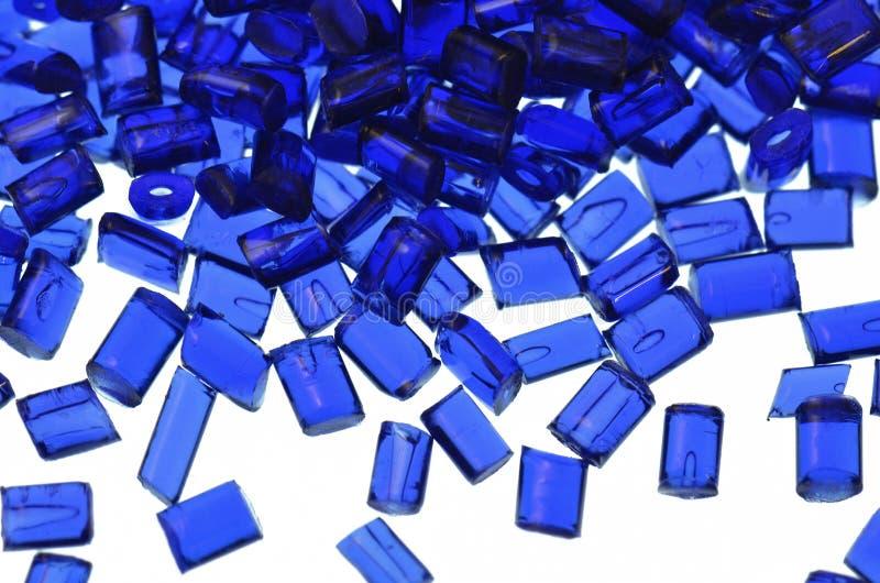 Transparentes blaues Plastikharz stockbilder