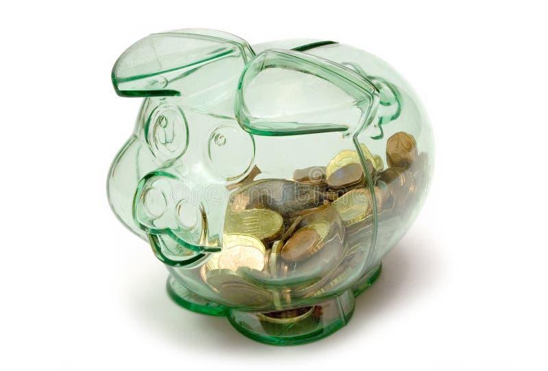 Transparentes Piggybank lizenzfreies stockbild
