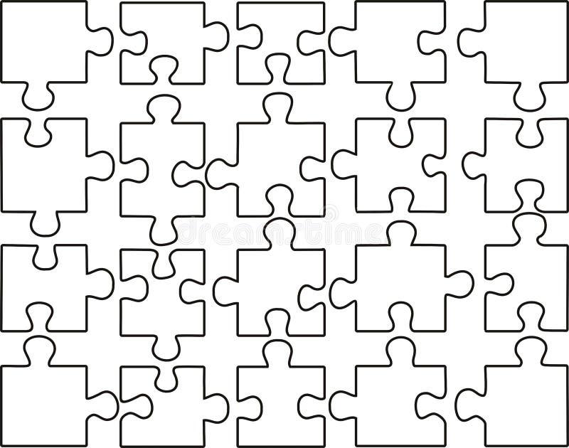 Transparentes Puzzlespiel lizenzfreie abbildung