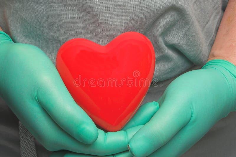 Transplantação de coração imagens de stock