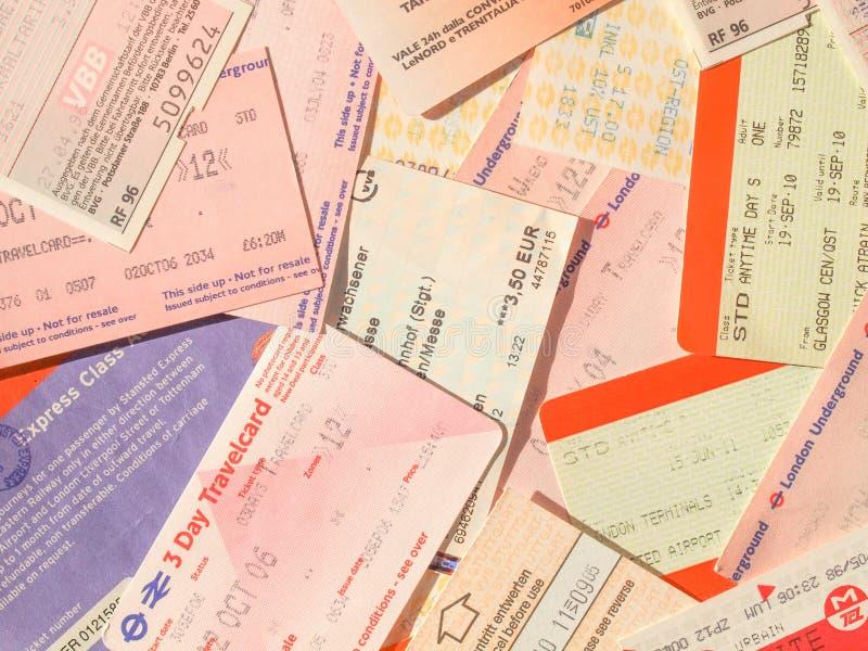 Transportów publicznych bilety fotografia stock