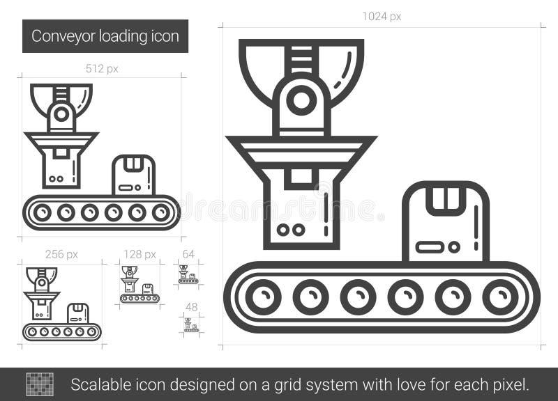 Transportörpäfyllningslinje symbol vektor illustrationer
