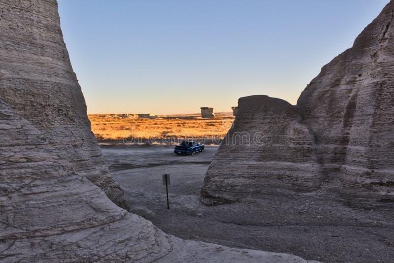 Transport AM à la roche de monument image libre de droits