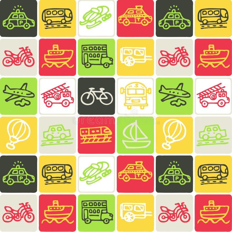 Transport überprüftes Muster stock abbildung