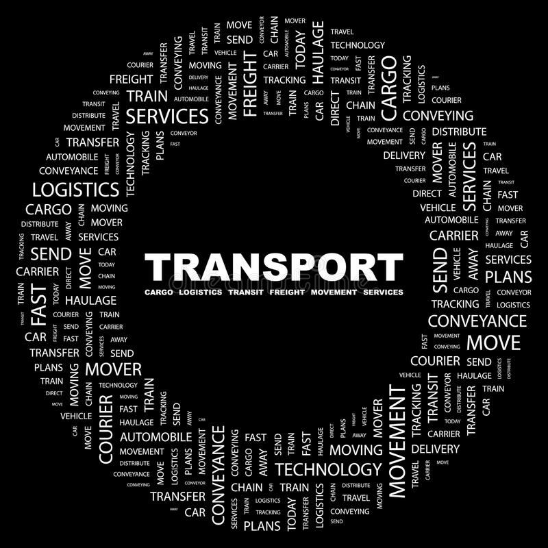 TRANSPORT. stock illustrationer