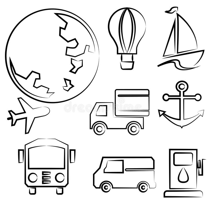 Transport royalty ilustracja