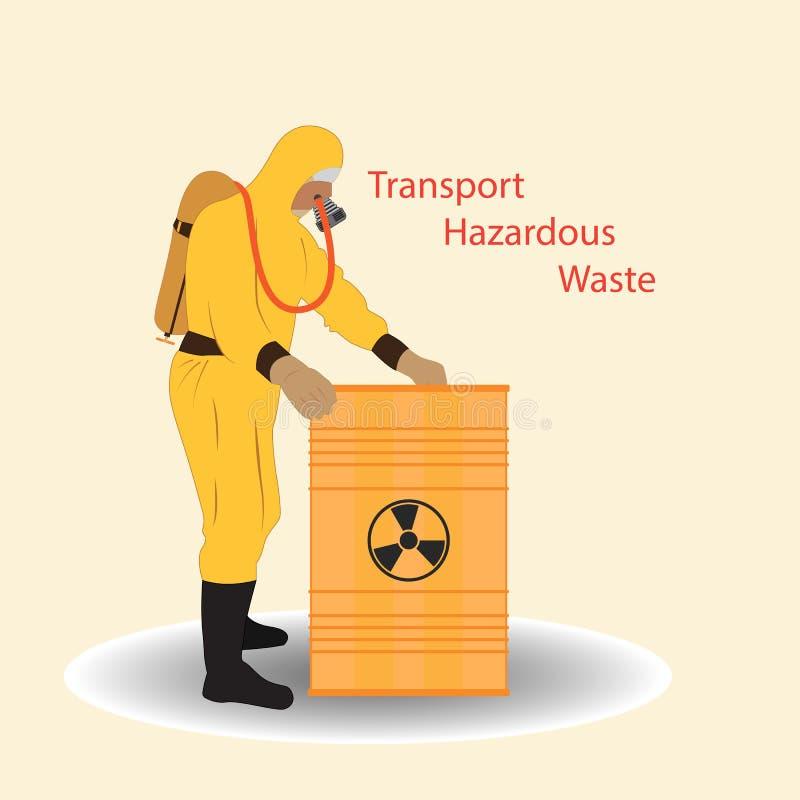 Transport av farlig avfalls stock illustrationer