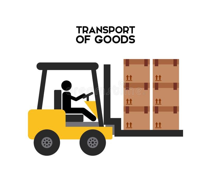 Transport av gods vektor illustrationer
