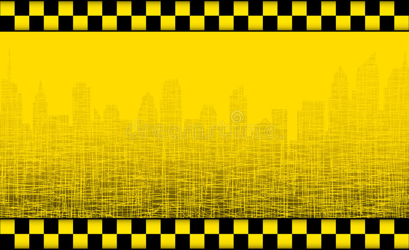 Download Background With Taxi Sign And City Silhouette Stock Vector - Illustration: 29938619