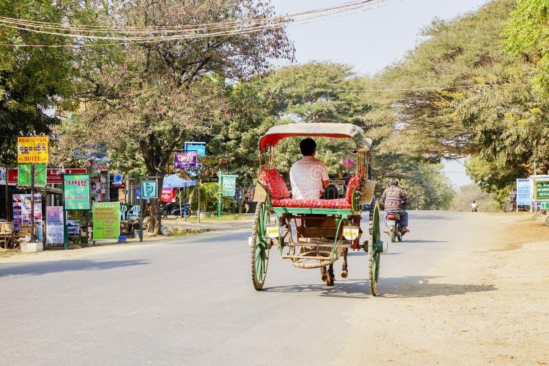Transport in Bagan, Myanmar stockbild