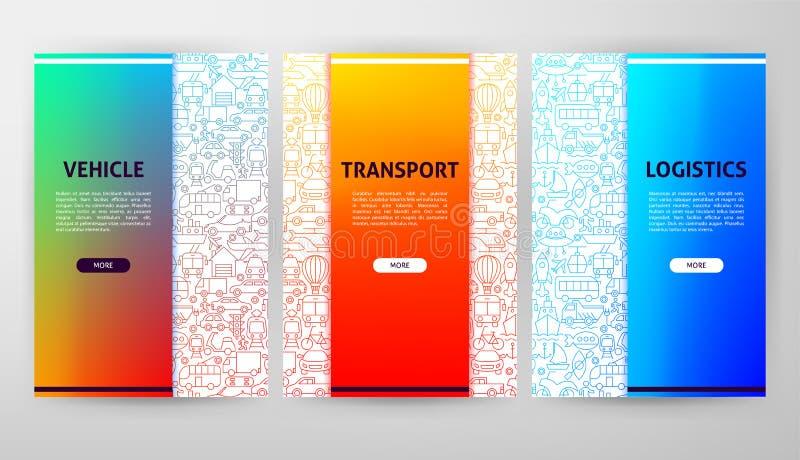 Transport Brochure Web Design royalty free stock image