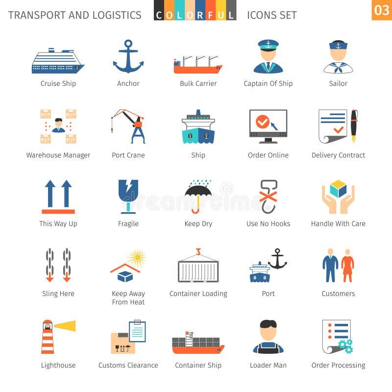 Transport-bunter Satz 03 stock abbildung