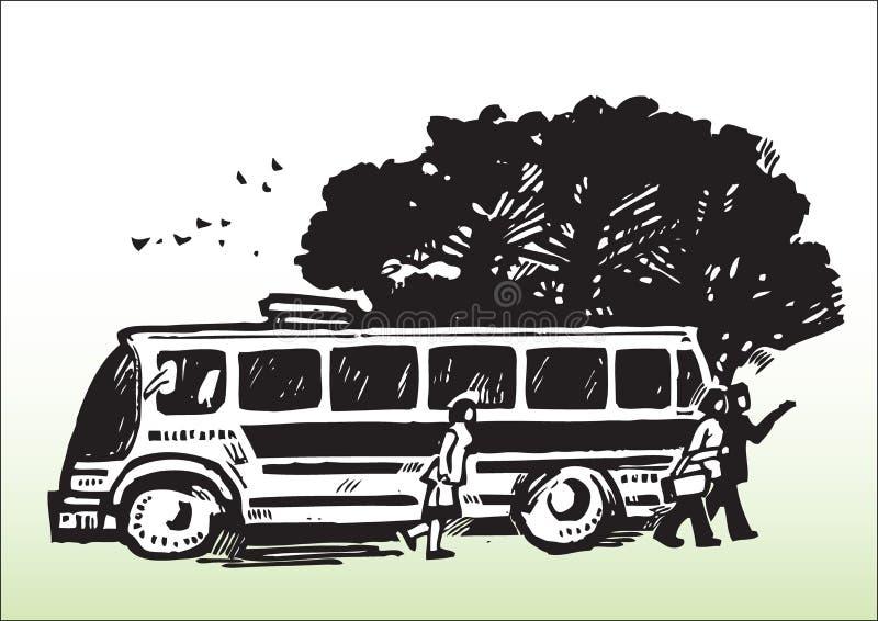 Transport_bus público ilustración del vector