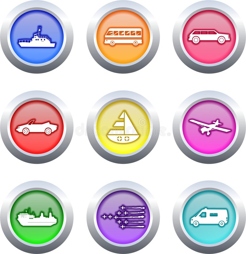 Transport buttons stock illustration