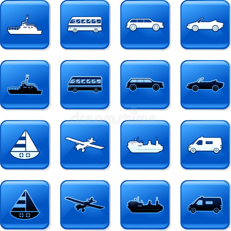 Transport buttons royalty free illustration