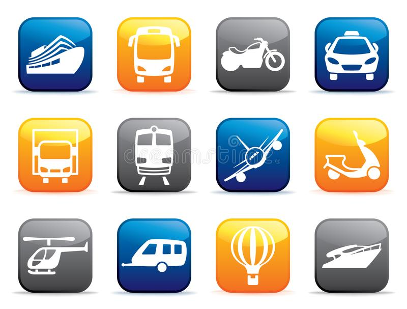 Transport buttons. Vector illustration royalty free illustration