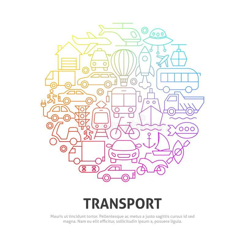 Transport Circle Concept stock photos
