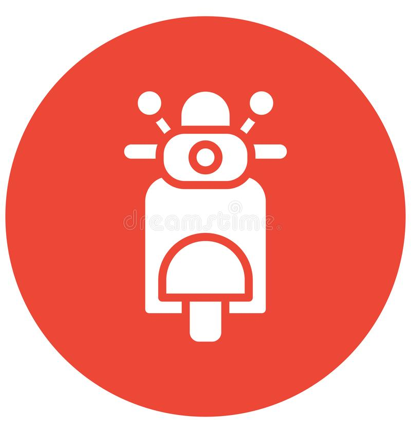 Motorcycle Vector icon which can be easily modified or edit in any color royalty free illustration