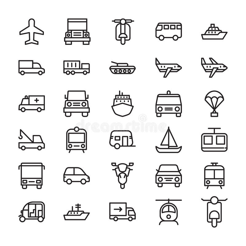 Transport Colored Vector Icons 3. Whether you like to travel by car, bus, train, bicycle, plane, boat or rocket ship, this Transport Vector Icons set is your one royalty free illustration