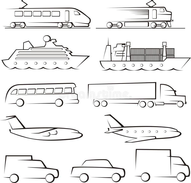 Transport contours royalty free illustration