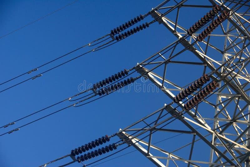 Transport d'énergie de l'électricité photos stock