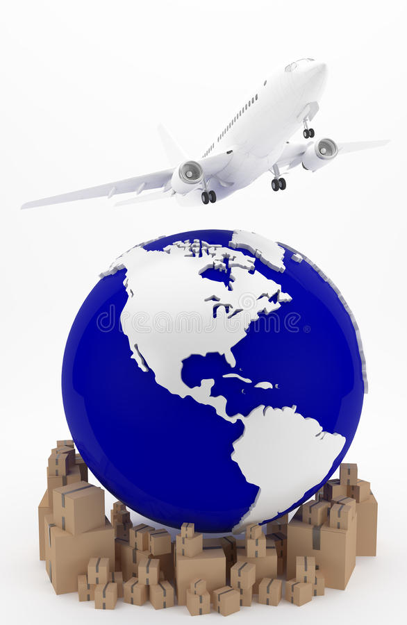 Transport d'air aux Etats-Unis images stock