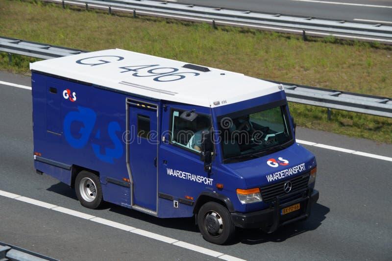 Transport d'objets de valeur - mouvement sûr d'argent liquide images libres de droits