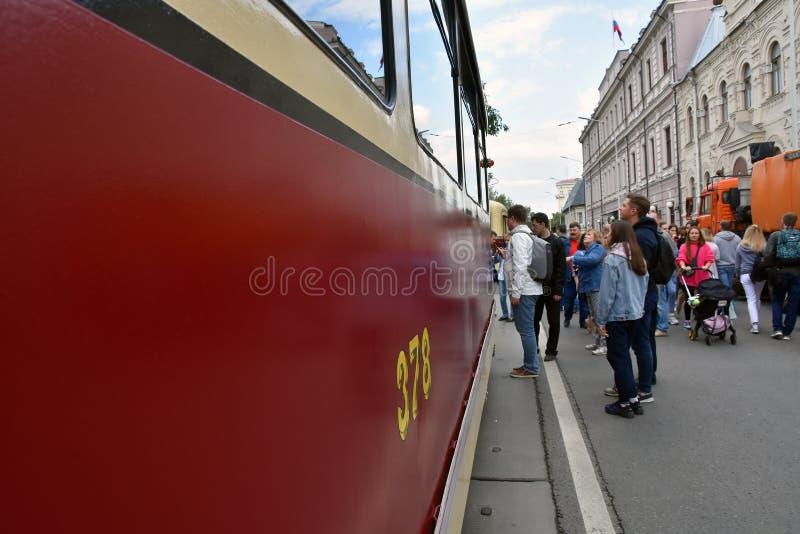 Transport Day-2019 de Moscou Les tramways défilent photo libre de droits