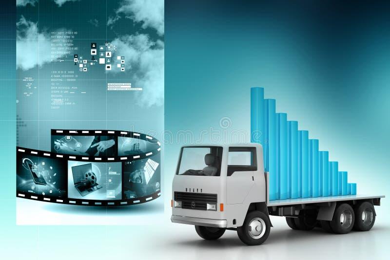 Transport de graphique de gestion dans le camion illustration stock