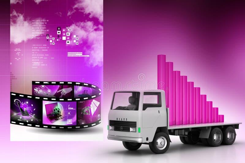 Transport de graphique de gestion dans le camion illustration libre de droits