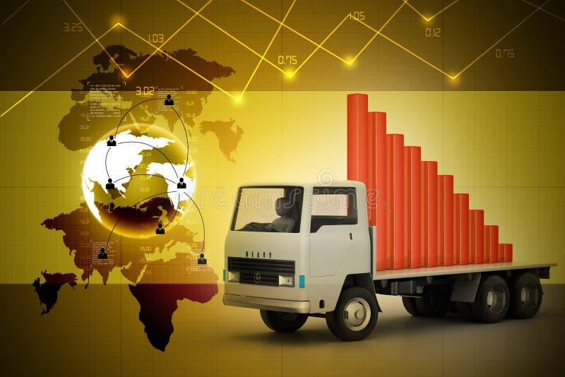 Transport de graphique de gestion dans le camion illustration de vecteur