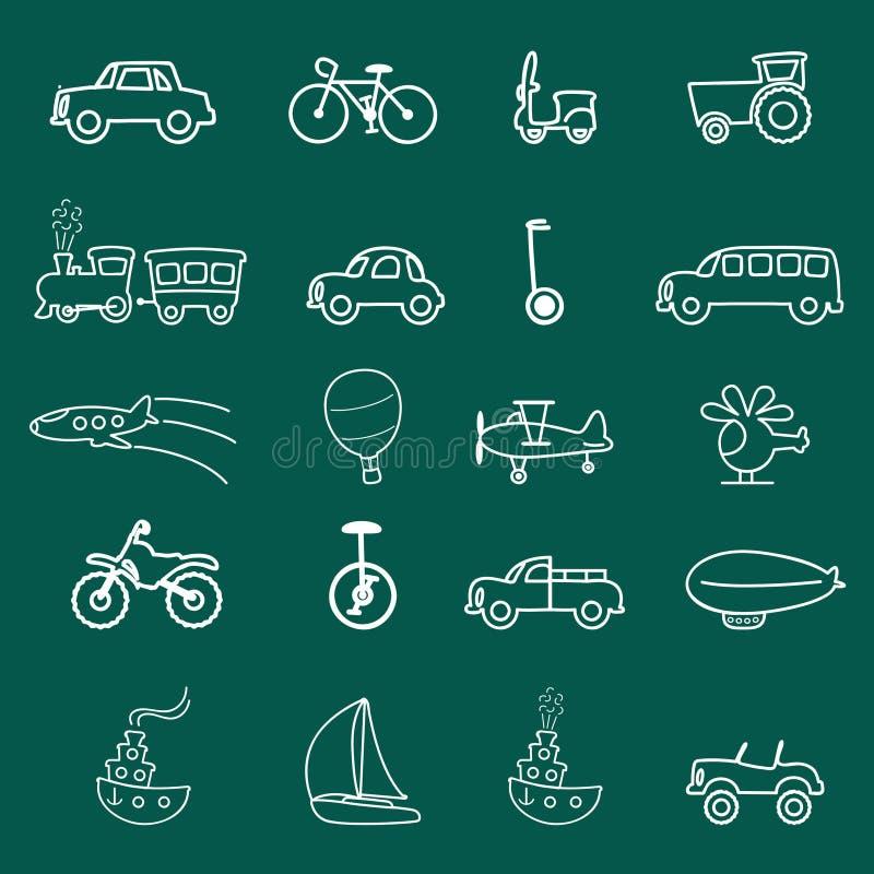 transport de symboles illustration libre de droits