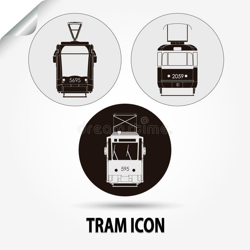 Transport de ville de vecteur de tram illustration de vecteur