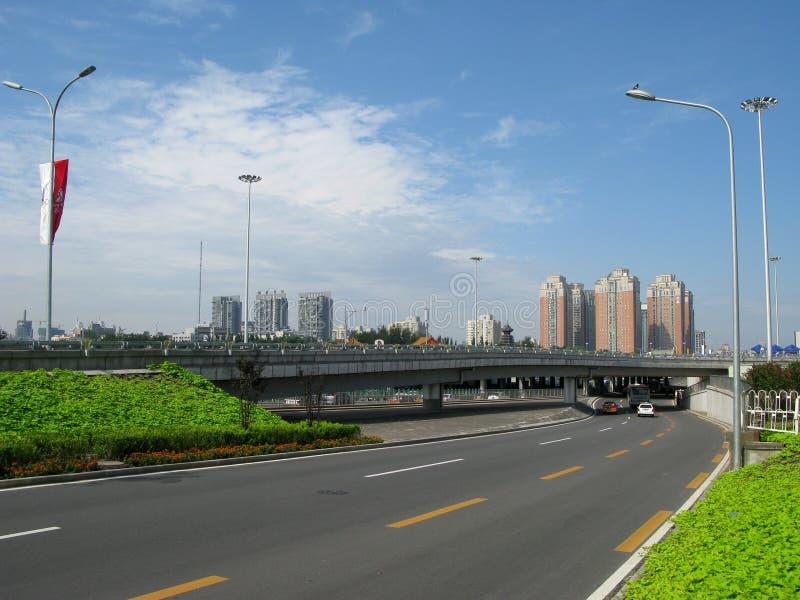 Transport de ville moderne, Pékin image libre de droits
