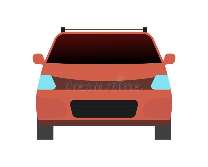 Transport de voiture sur le blanc illustration libre de droits