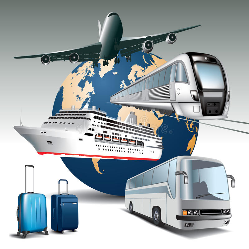 Transport de voyage illustration stock