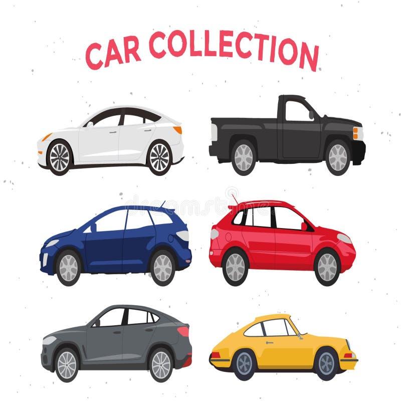Transport de voyage d'illustration de collection de voiture illustration stock