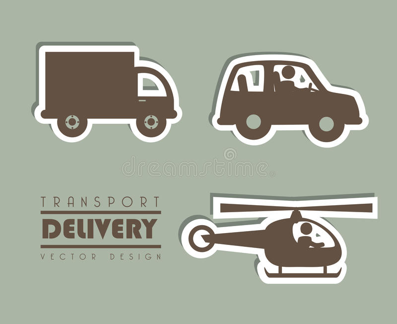 Transport delivery stock illustration