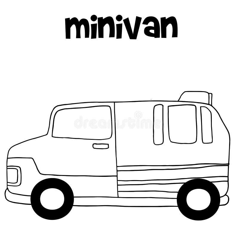 Transport des Mehrzweckfahrzeughandabgehobenen betrages stock abbildung