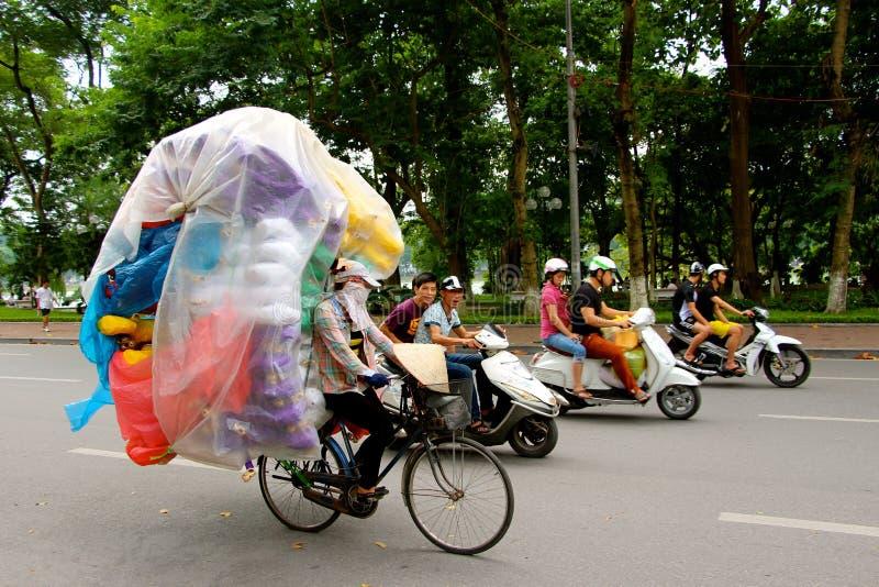 Transport du style du Vietnam de marchandises image stock